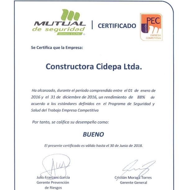 Cidepa Obtiene Certificación PEC