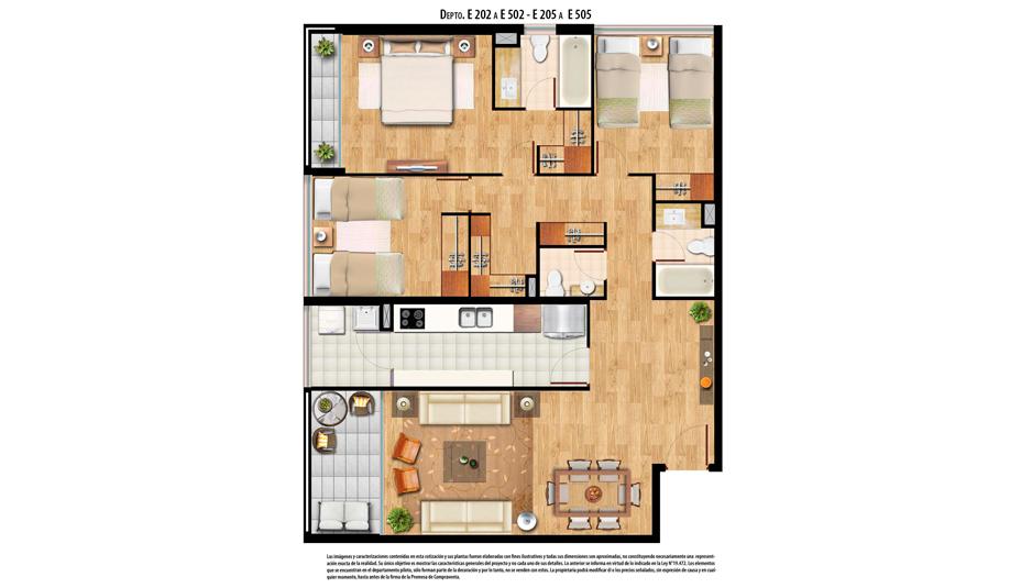 3 dormitorios 3 baños